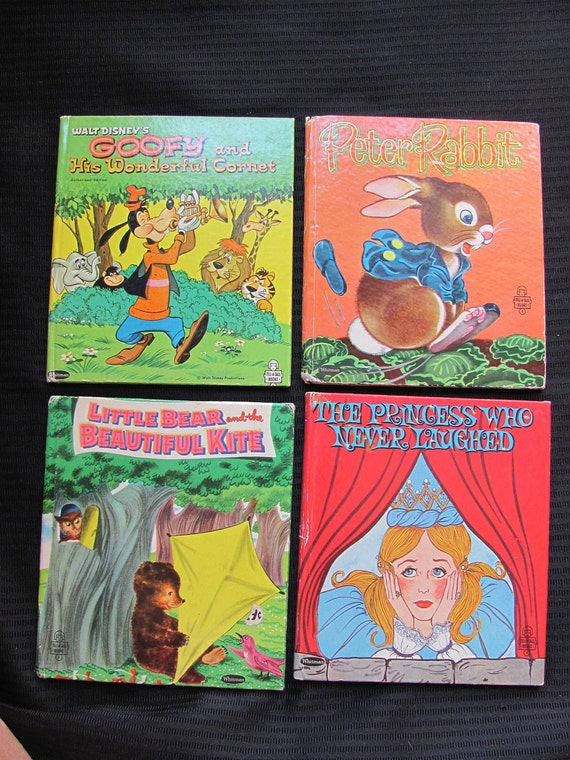 Lot of 4 Vintage Whitman Tell a Tale Childrens Books