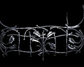 Hand-forged decorative metal fence.