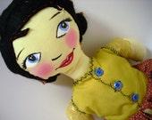 Handpainted Soft Doll