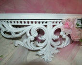 Shabby Victorian Bed Crown or Wall Shelf  23 inches Matches Mirror I have Listed
