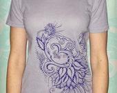 Blossoming Om Lavender Shirt