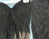 1980s. Black Lace CORSET. 36c
