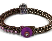 Designs-Bead Kit Only-Circle of Gems Single Bracelet Kit-Amethyst-Pattern Sold Separately