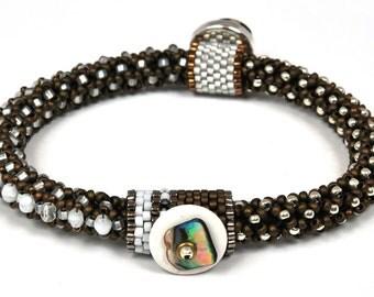 Designs-Bead Kit Only-Circle of Gems Single Bracelet Kit-Snow White-Pattern Sold Separately
