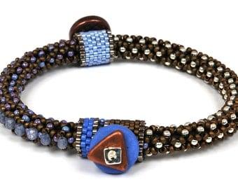 Designs-Bead Kit Only-Circle of Gems Single Bracelet Kit-Periwinkle-Pattern Sold Separately