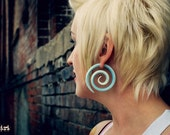 Alice's Dress Super Spirals - Earrings for Stretched Lobes - Gauges