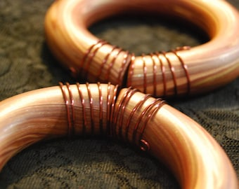 """Coil Closure Hoops  - 7/16"""" to 5/8"""" - Earrings for Stretched Lobes - Gauges"""