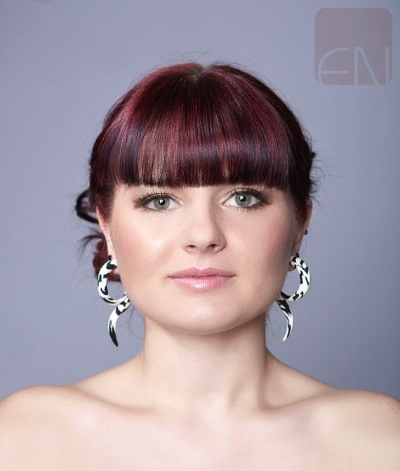 Zebra Tails - Earrings for Stretched Lobes - Gauges
