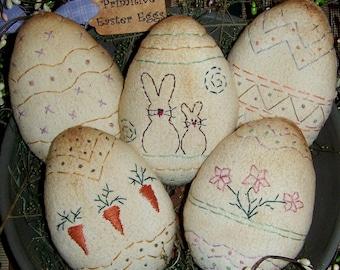 Primitive Spring Easter Egg Pattern 1