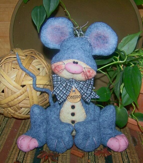 Primitive Folk Art Mouse Doll Ornie pattern 46