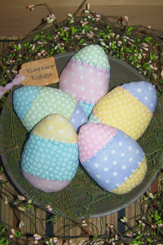 Primitive Spring Easter Eggs Pattern 2 By PrimitivelyPrecious