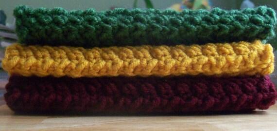 Set of 3 Fall Jewel-Tone Washcloths-20% OFF