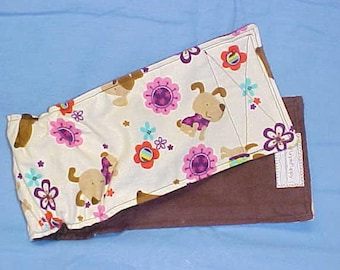 Male Dog Diaper Belly Band  Pet Wrap Doggie Pants Panties Brown Dogs Cotton Flannel  Custom Sizes to 22 Inches