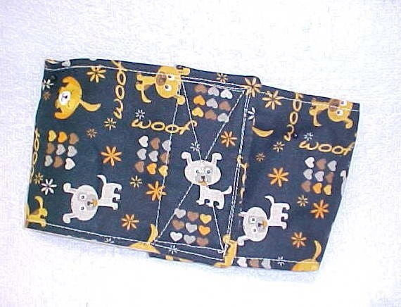 Male Dog Diaper Belly Band  Wrap Dog Whimsical Dogs Custom  Size  To 14  Inch