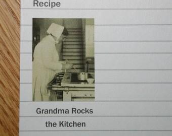 Recipe Cards- Grandma Rocks the Kitchen 20 recipe cards 4X6