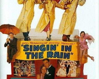 Magnet- Singin' in the Rain movie poster magnet Gene Kelly Debbie Reynolds Donald O'Conner