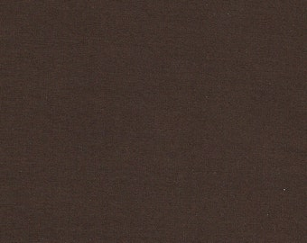 Chocolate Brown Imperial Broadcloth - 2 Yards