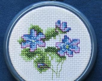 Violet - Cross Stitch Kit on Aida Cloth