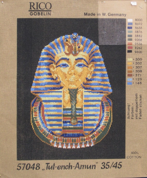 King Tut - A Needlepoint Canvas - Rico Stamped Canvas