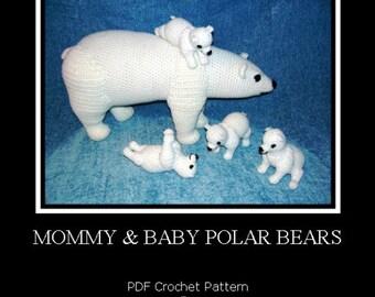 Polar Bear and Cubs Set PDF Crochet Patterns