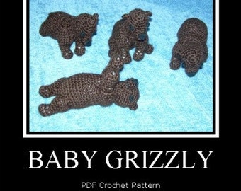 Grizzly Bear Cubs PDF Crochet Patterns