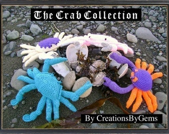 The Crab Collection PDF Crochet Patterns (set of 4)
