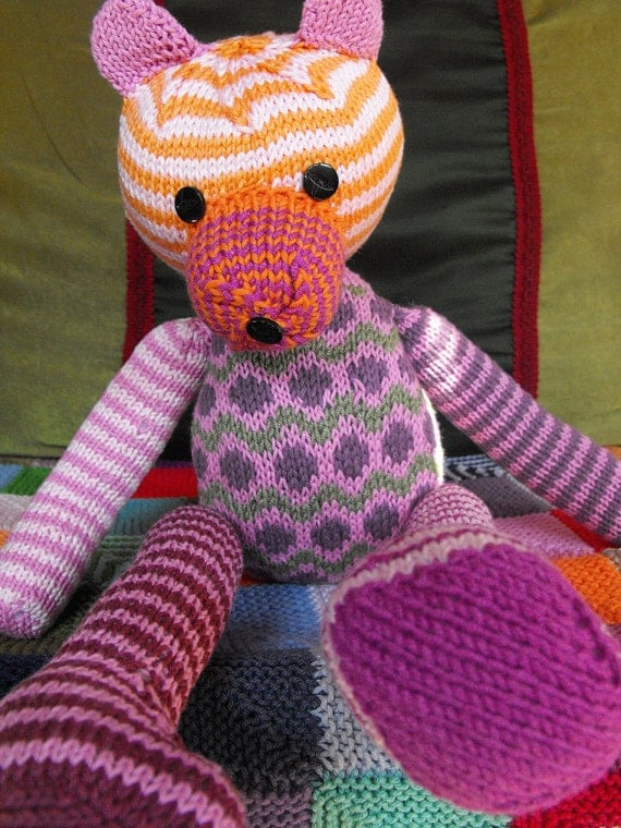 hand knitted bear Milka - pattern only