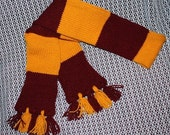 Harry Potter House Scarf - Gryffindor (maroon and gold)