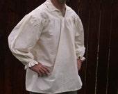 Mens Drop Yoke L or XL Renaissance Primitive Pirate Poet Theatre Shirt