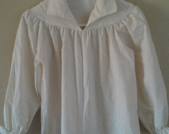 Womens Choice of Size( Xs, S, M, ) Renaissance Pirate Pioneer Theatre Shirt (White or un-bleached