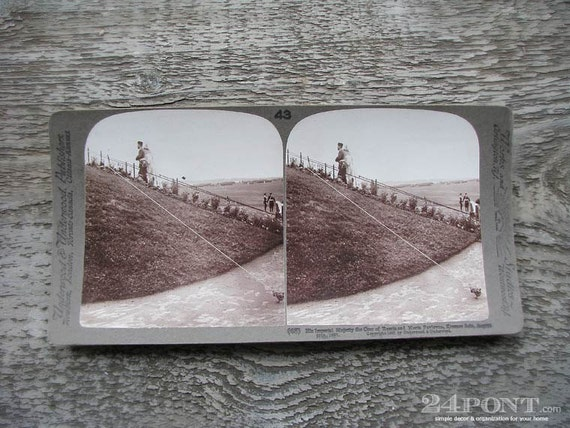 vintage stereo card photograph : russian czar and czarina by 24pont
