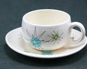 Seven Franciscan Starburst Cups and Saucers