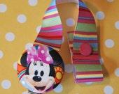 Button Pacifier Clip - Minnie Mouse