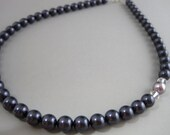 Asymmetrical Purple Pearl Necklace
