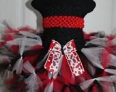 Lady Bug Petti Tutu Skirt, Tutu Skirt, Birthday Tutu Skirt, Newborn to 2 Toddler