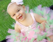 Frog Petti Tutu Skirt, Tutu Skirt, Birthday Tutu, Pink Green Tutu Skirt, Newborn to 2 Toddler
