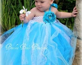 Flower Girl Dress, Flower Girl Tutu Dress, Blue Tutu Dress, Wedding flower Girl Blue Vintage Lace 2 Toddler to 4 Toddler