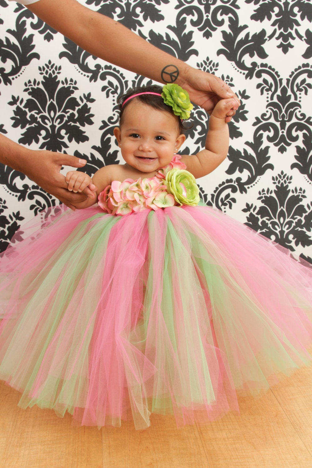 Flower Girl Dresses Pink And Green