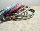Vintage Bangle Bracelets, Cloisonne Bracelet, Collection of Bangles, Metal Bracelets