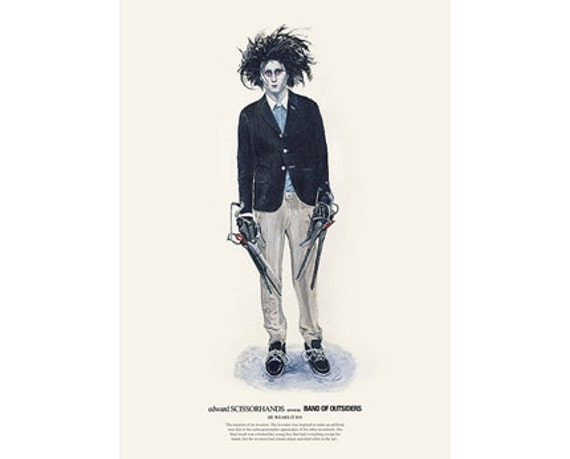 He Wears It 018 - edward SCISSORHANDS wears Band of Outsiders