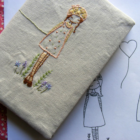 daisy girl embroidery pattern