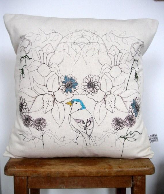 Birds and Flowers Cushion