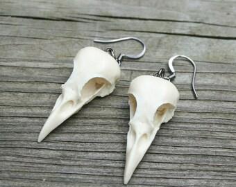 bird skull earrings - mini magpies