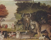 Peaceable Kingdom by  Edward Hicks Art Plate