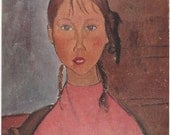 Girl in Pink by Modigliani Art Plate