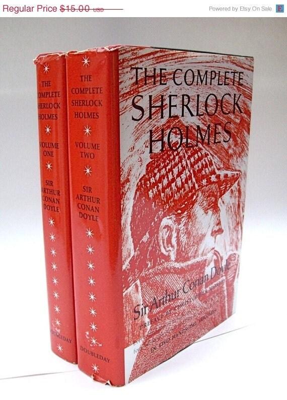 ON SALE Vintage Complete Sherlock Holmes 2 Vols.