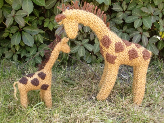 Knitting Pattern Giraffe : PDF Knitting Pattern for Tall Giraffe by WoodenWool on Etsy