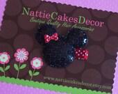 Minnie Mouse Ears Hair Clips - Girls Hair Clips - Red Minnie - Pink Minnie - Purple
