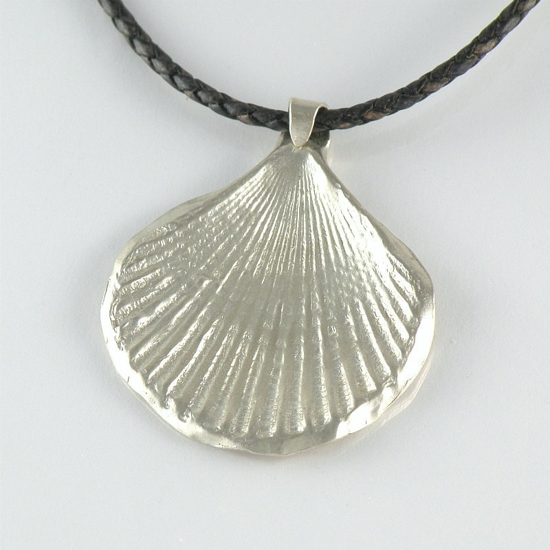 Make Your Own Seashell Jewelry: Seaside Jewelry Seashell Sterling Silver Necklace Gift For