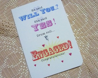 Drum Roll...Engaged - Greeting Card